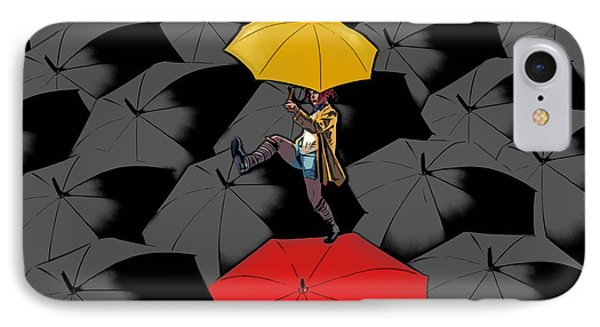 Clowning On Umbrellas 01 - A11 IPhone Case