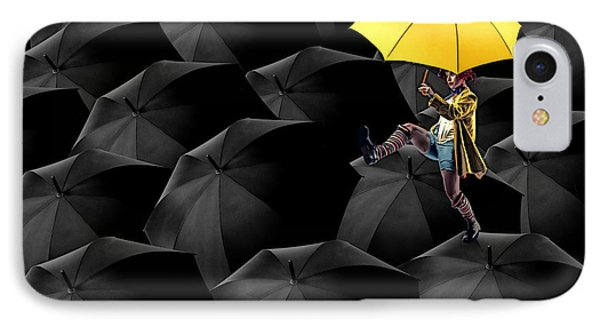 Clowning On Umbrellas 03-a13-1 IPhone Case