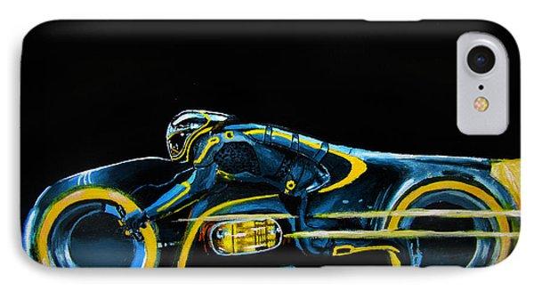 Clu's Lightcycle IPhone Case by Kayleigh Semeniuk