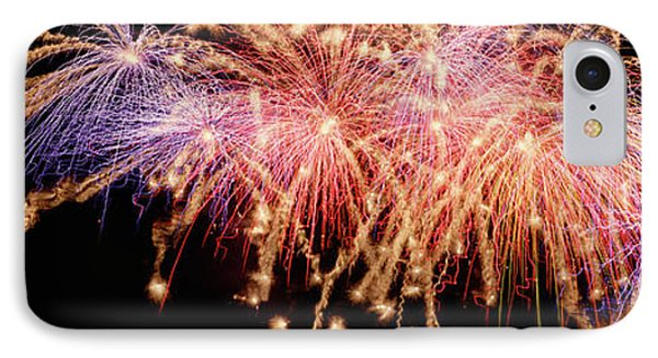 Cluster Of Fireworks Exploding IPhone Case by Panoramic Images