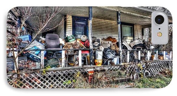 Clutter House Porch  Phone Case by Dan Friend