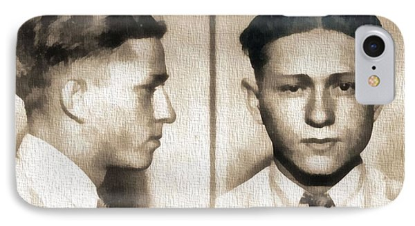 Clyde Barrow Mug Shot IPhone Case by Dan Sproul