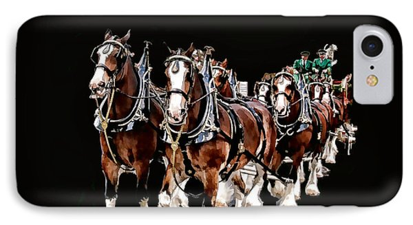 Clydesdales Hitch IPhone Case by Constantine Gregory
