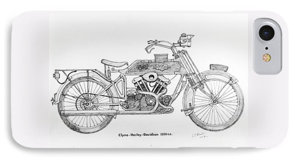 Clyno-harley-davidson IPhone Case by Stephen Brooks