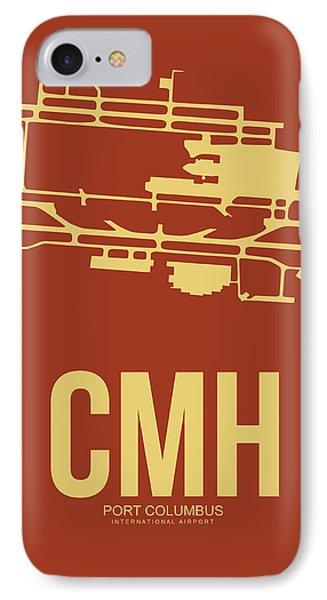 Cmh Columbus Airport Poster 1 IPhone Case by Naxart Studio