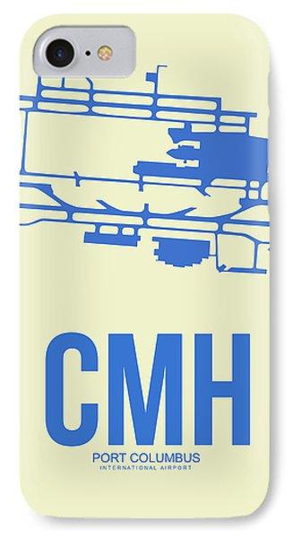 Cmh Columbus Airport Poster 2 IPhone Case by Naxart Studio