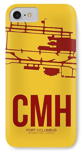 Cmh Columbus Airport Poster 3 IPhone Case by Naxart Studio