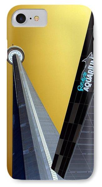 Cn Tower And Aquarium Phone Case by Valentino Visentini