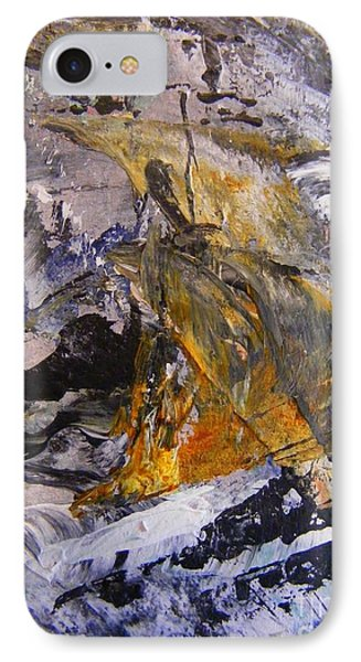 IPhone Case featuring the painting Coal 2 by Nancy Kane Chapman