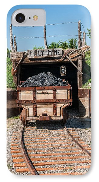 IPhone Case featuring the photograph Coal Cart Leaving The Mine by Sue Smith