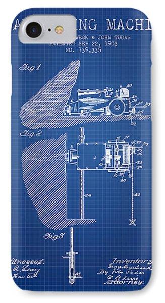 Coal Mining Machine Patent From 1903- Blueprint IPhone Case