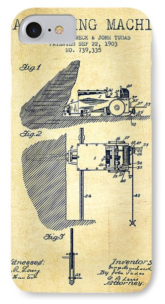 Coal Mining Machine Patent From 1903- Vintage IPhone Case by Aged Pixel
