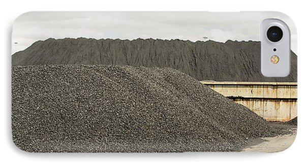Coal On The Docks In Hull IPhone Case by Ashley Cooper