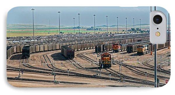 Coal Trains In Nebraska Rail Yard IPhone Case