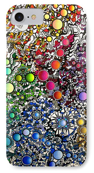 IPhone Case featuring the drawing Coalescence Version 2 by Devin  Cogger