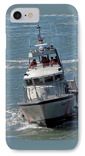 Coast Guard At Depot Bay IPhone Case by Chris Anderson