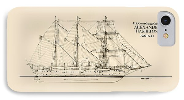 Coast Guard Cutter Alexander Hamilton IPhone Case by Jerry McElroy - Public Domain Image