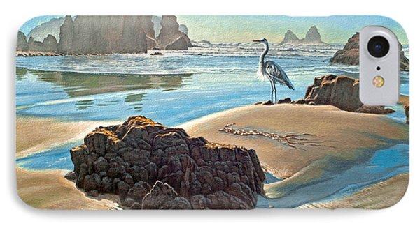 Heron iPhone 7 Case - Coast With Great Blue Heron by Paul Krapf
