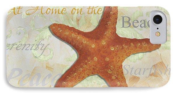 Coastal Decorative Starfish Painting Decorative Art By Megan Duncanson IPhone Case by Megan Duncanson