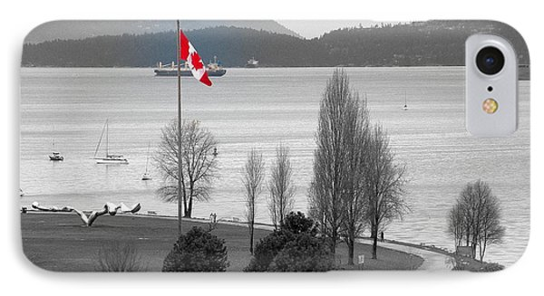 Coastal Canadian Flag Phone Case by Brian Chase