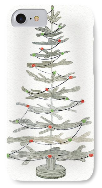 Coastal Holiday Tree II Red IPhone Case by Kathleen Parr Mckenna