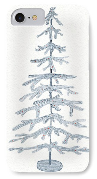 Coastal Holiday Tree Iv Red IPhone Case by Kathleen Parr Mckenna