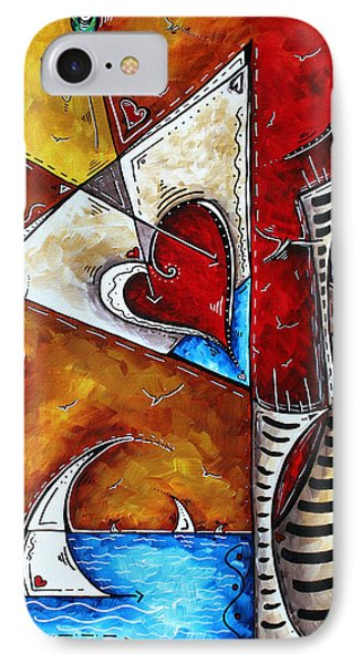 Coastal Martini Cityscape Contemporary Art Original Painting Heart Of A Martini By Madart Phone Case by Megan Duncanson