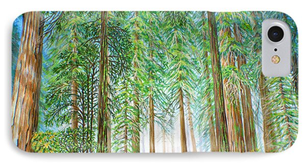 IPhone Case featuring the painting Coastal Redwoods by Jane Girardot