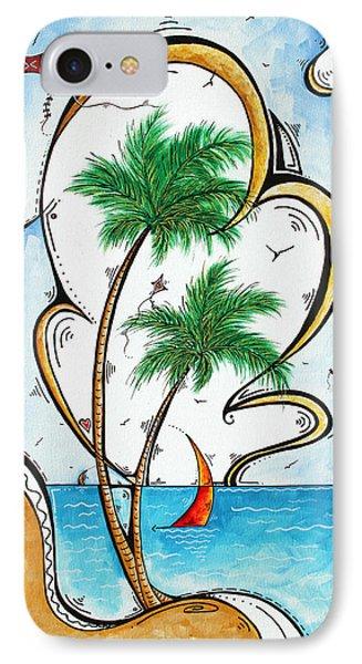 Coastal Tropical Art Contemporary Sailboat Kite Painting Whimsical Design Summer Daze By Madart Phone Case by Megan Duncanson