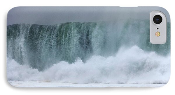 Coastal Wave During Typhoon Usagi IPhone Case by Jim Edds