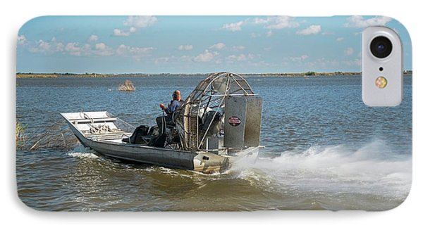 Coastal Wetlands Airboat IPhone Case by Jim West