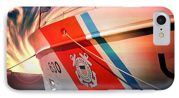 Coast Guard Uscg Alert Wmec-630 IPhone Case