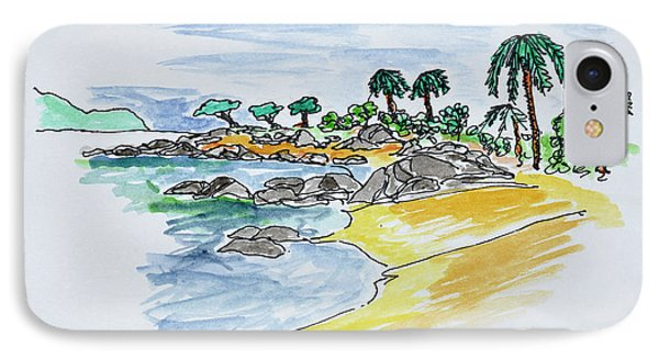 Coastline Along Isolella Beach IPhone Case