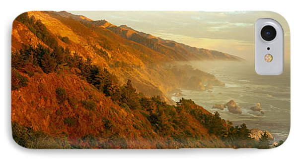 Coastline At Dusk, Big Sur, California IPhone Case by Panoramic Images