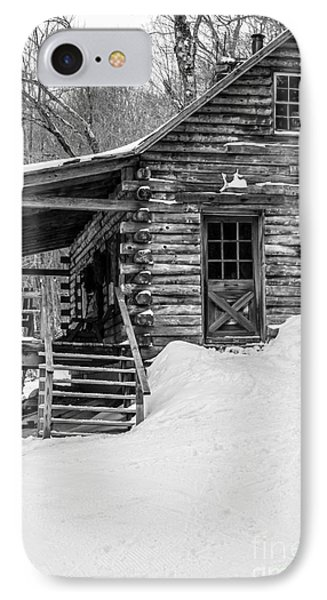 Slayton Pasture Cobber Cabin Trapp Family Lodge Stowe Vermont IPhone Case by Edward Fielding