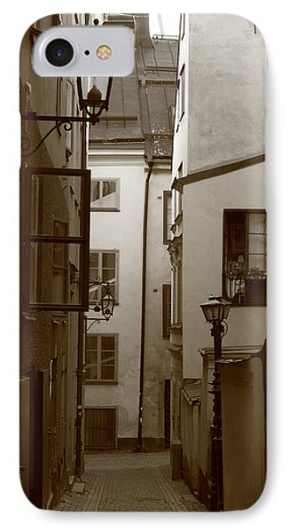 Cobbled Medieval Street - Monochrome IPhone Case