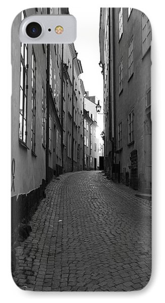 Cobbled Street - Monochrome IPhone Case