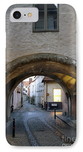 Cobblestone And Arcade Phone Case by Ladi  Kirn