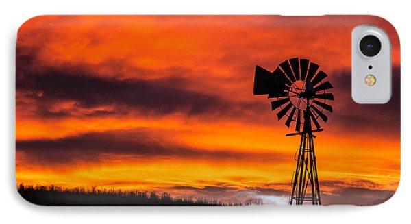 Cobblestone Windmill At Sunset IPhone Case