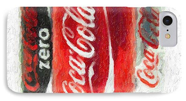 Coca Cola Art Impasto IPhone Case by Antony McAulay
