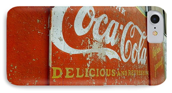 Coca-cola On The Army Store Wall IPhone Case by Kathy Barney