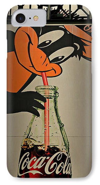 Coca Cola Orioles Sign IPhone 7 Case by Stephen Stookey