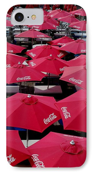 Coca Cola Red Umbrella's Phone Case by Rick Todaro