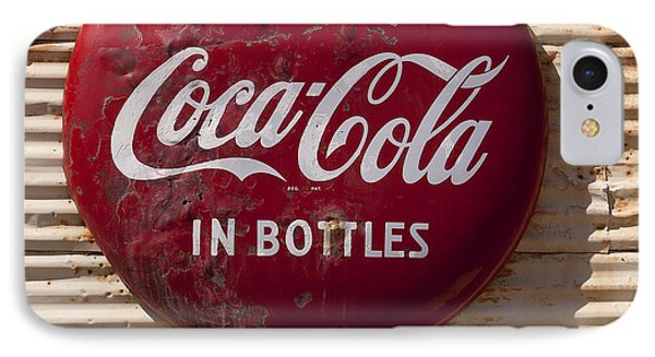 Coca Cola Sign   #0636 IPhone Case by J L Woody Wooden