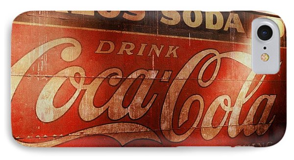 IPhone Case featuring the photograph Coca Cola Sign by Rodney Lee Williams