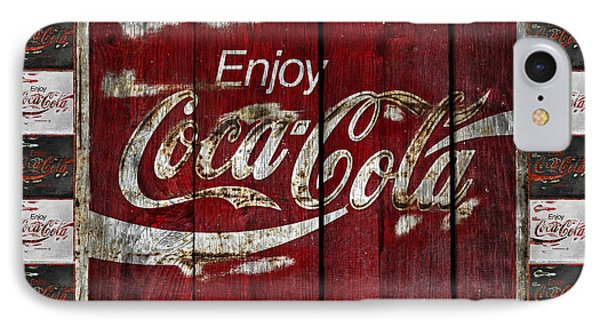 Coca Cola Sign With Little Cokes Border IPhone Case