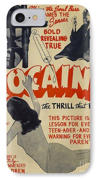Cocaine Movie Poster IPhone Case by Jon Neidert