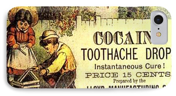 IPhone Case featuring the photograph Cocaine Toothache Drops Advertisement Around 1900 by Merton Allen