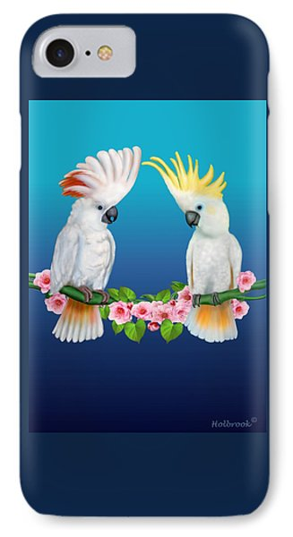 Cockatoo Courtship IPhone Case by Glenn Holbrook