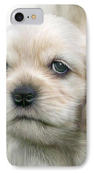 Cocker Pup Portrait Phone Case by Carol Cavalaris